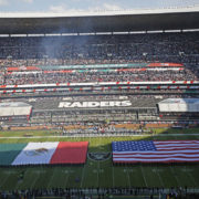 Flags at the NFL Mexico City Game (Courtesy of the Sharon Herald)